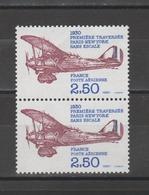 FRANCE / 1980 / Y&T PA N° 53 ** : Paris - New Yok Sans Escale X 2 En Paire - Gomme D'origine Intacte - Airmail
