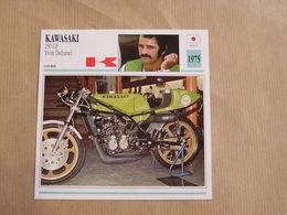 KAWASAKI 250 GP Yvon Duhamel Japan Japon 1975  Moto Fiche Descriptive Motocyclette Motos Motorcycle Motocyclette - Geïllustreerde Kaarten