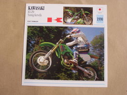 KAWASAKI KX 250 Yannig Kervella Japan Japon 1990  Moto Fiche Descriptive Motocyclette Motos Motorcycle Motocyclette - Geïllustreerde Kaarten
