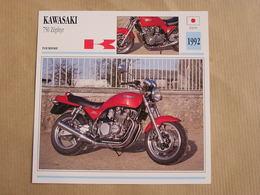 KAWASAKI 750 Zéphyr  Japan Japon 1992  Moto Fiche Descriptive Motocyclette Motos Motorcycle Motocyclette - Geïllustreerde Kaarten