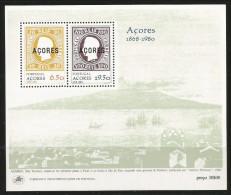 1980, Azoren, 334/35 Block 1, Erste Markenausgaben , MNH ** - Azores