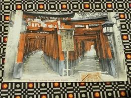 CPA Asie - JAPON - JAPAN TorII Of Fushimi Inari Near Kyoto - Kyoto