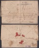 """France - Lettre Date Bruck 08/10/1809 """" Nº38 Armée D'Allemagne """"  (7G37423) DC2650 - Marcofilia (sobres)"""
