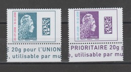 FRANCE / 2018 / Y&T N° 5270/5271 ** : Marianne L'engagée (surchargée) TVP Europe & Monde X 1 Paire BdF Haut - Unused Stamps