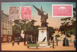 Le Coteau (Loire) 1931 Carte De Roanne Pour Philadelphia (Etats Unis) Avec Vignette Maison De Retraite Légion D'honneur - 1921-1960: Periodo Moderno