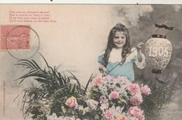 Illustrateur BERGERET - Nouvelle Année - 1905 - Enfant Fille - Bergeret