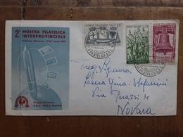 REPUBBLICA - Marcofilia - 2° Mostra Filatelica Novara 1959 - Annullo Arrivo + Spese Postali - F.D.C.