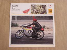 HONDA 125 Cm3 RC 149 GP Japan Japon 1966  Moto Fiche Descriptive Motocyclette Motos Motorcycle Motocyclette - Zonder Classificatie