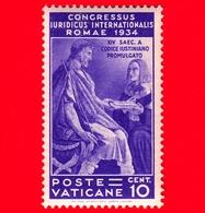 Nuovo - VATICANO - 1935 - Congresso Giuridico Internazionale - Giustiniano - 10 C. - Nuevos