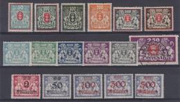 ALLEMAGNE  DANZIG 1921-23:  Lot De Timbres - Non Classés