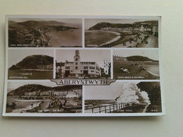 1946 Black And White  Postcard -  Multi View, Aberystwyth, Wales - Wales