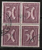 GERMANY  Scott # 167  VF USED BLOCK Of 4 (Stamp Scan # 474) - Germany