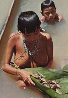 VENEZUELA INDIO Yanoama Indian Naked Woman Fishing, Old Postcard - Völker & Typen