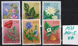 JUGOSLAVIA [1971] MiNr 1420-25 ( **/mnh ) Blumen - 1945-1992 Sozialistische Föderative Republik Jugoslawien