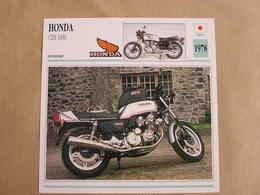 HONDA CBX 1000 Japan Japon 1978  Moto Fiche Descriptive Motocyclette Motos Motorcycle Motocyclette - Zonder Classificatie