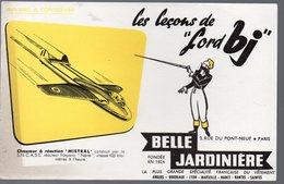 (aviation)  Buvard BELLE JARDINIERE Avec Avion Mistral (PPP10435) - Blotters