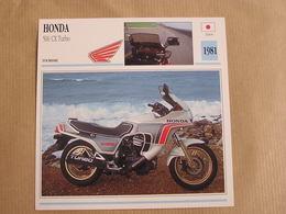 HONDA 500 CX Turbo Japan Japon 1981  Moto Fiche Descriptive Motocyclette Motos Motorcycle Motocyclette - Zonder Classificatie