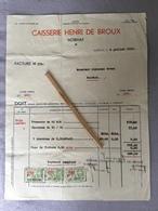 NOIRHAT CAISSERIE HENRI DE BROUX 1935. - Genappe