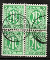 GERMANY  Scott # 3N 4a  VF USED BLOCK Of 4 (Stamp Scan # 474) - American,British And Russian Zone