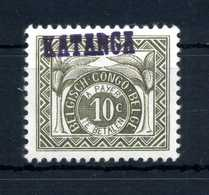 1960KATANGA CONGO TASSE N.1 MNH ** - Congo Belga