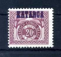 1960KATANGA CONGO TASSE N.2a MNH ** - 1947-60: Nuovi