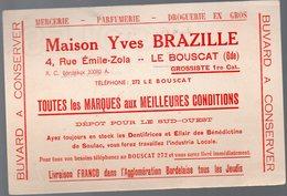 Le Bouscat (33 Gironde) Buvard YVES BRAZILLE Mercerie Parfumerie  (PPP10445) - Blotters