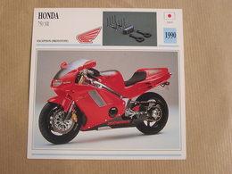 HONDA 750 NR  Japan Japon 1990  Moto Fiche Descriptive Motocyclette Motos Motorcycle Motocyclette - Zonder Classificatie