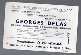 Bordeaux-Caudéran (33 Gironde) Buvard GEORGES DELAS   Teinturerie (PPP10448) - Buvards, Protège-cahiers Illustrés