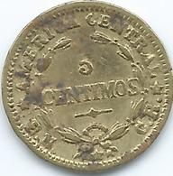 Costa Rica - 5 Centimos - 1947 - KM179 - Brass Coin - Costa Rica