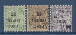 Monaco - YT N° 48 à 50 - Neuf Sans Charnière - 1921 - Ungebraucht