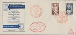 France 1951 Y&T 876 Et 877 Sur Enveloppe, Exposition La Croix-Rouge Et La Poste - Croix-Rouge
