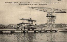 CORSE -- Compagnie Aéronavale AJACCIO/ANTIBES - X 2 Hydravions Sur La Base D'embarquement D'Antibes - Aviation