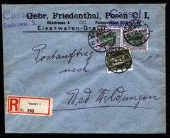 A5990) DR Infla Postauftrag-R-Brief Cassel 20.09.21 N. Bad Wildungen - Briefe U. Dokumente