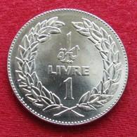 Lebanon 1 Livre 1981 KM# 30  Liban Libano Libanon - Libanon