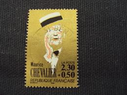 """90-99  - Timbre Oblitéré N°  2650  """"serie Grands Chanteurs; Maurice Chevallier      """"    0.15 - France"""