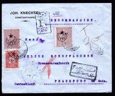 A5992) Türkei Osmanisches Reich R-Brief Stamboul 02.02.17 N. Frankfurt - 1858-1921 Osmanisches Reich