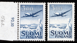 FINLAND/Finnland, M-63 Definitive Landscapes Mk 3,00 Airplane Type II HaP**RARE - Nuovi