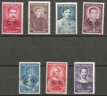 Philippines  - 1962 Officials MNH **     Sc O63-9 - Philippines
