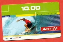 Kazakhstan 2008. Surfing. Prepaid Phone Card. - Sport
