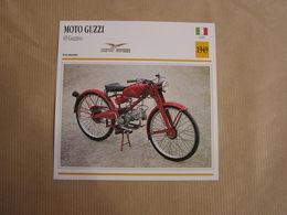 MOTO GUZZI 65 Guzzino   Italie 1949  Moto Fiche Descriptive Motocyclette Motos Motorcycle Motocyclette - Sammelkarten, Lernkarten