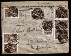 A5994) DR Infla Ortsbrief Dresden-Altstadt 04.09.23 Massenfrankatur - Briefe U. Dokumente