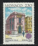 MONACO , 2.30 Frs , EUROPA , Bâtiments Postaux D'hier , Place De La Mairie , 1990 , N° YT 1724 , NEUF ** - Neufs