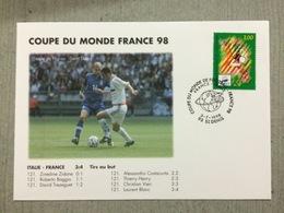 Coupe Du Monde De Football 1998 Italie  France Le 3 Juillet 1998 Au Stade De France Saint Denis - World Cup