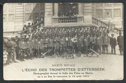 """+++ CPA - Photo Carte - Foto Kaart - """" L'Echo Des Trompettes D' ETTERBEEK """"- Concours Au Havre - Orchestre Musique  // - Etterbeek"""