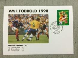Coupe Du Monde De Football 1998,Brésil-France Le 12 Juillet 1998 Au Stade De France St Denis Brasilien Frankrig Zidane - 1998 – Francia