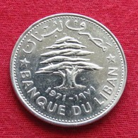 Lebanon 50 Piastres 1971 KM# 28.1  Liban Libano Libanon - Libanon