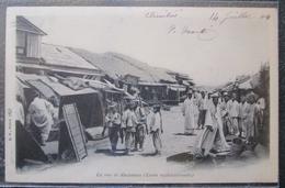 Korea Corée Rue De Gensan  Cpa Timbrée Imperial Korean Post 1904 - Corea Del Sud