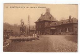 23  PRAYON-TROOZ - La Gare Et Le Monument - Trooz
