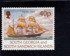 740900030 POSTFRIS  MINT NEVER HINGED EINWANDFREI SCOTT 196 SHIPS HERTHA 1884 - Géorgie Du Sud