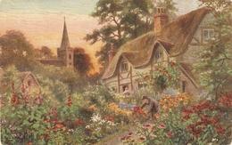 """·Cottae Gardens"" Tuck Oiette Postcard # 8463 - Quinton, AR"